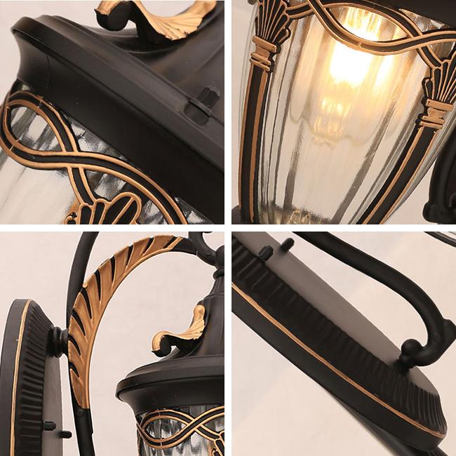 Khung đèn bằng hợp kim nhôm và chụp đèn bằng thủy tinh dày chất lượng