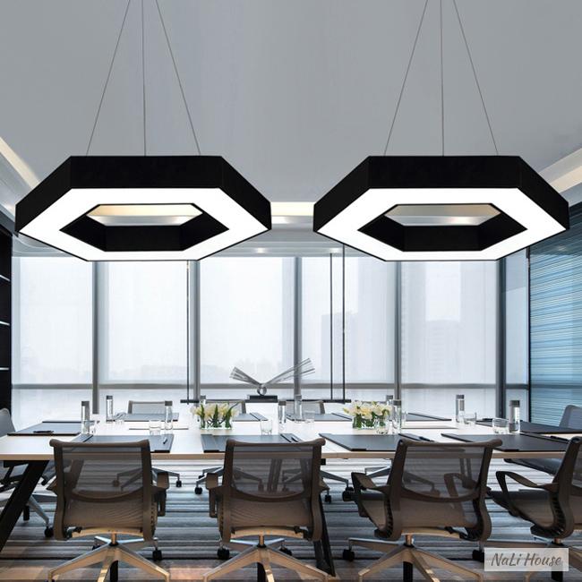 Đèn LED lục giác thả trần 48W sở hữu thiết kế sang trọng