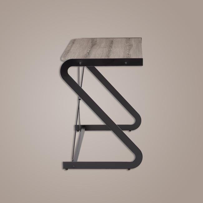 Bàn làm việc chân sắt uốn cong mỹ thuật kiểu dáng chữ Z