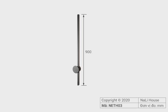 Đèn ngủ có kích thước phù hợp với đa dạng không gian phòng