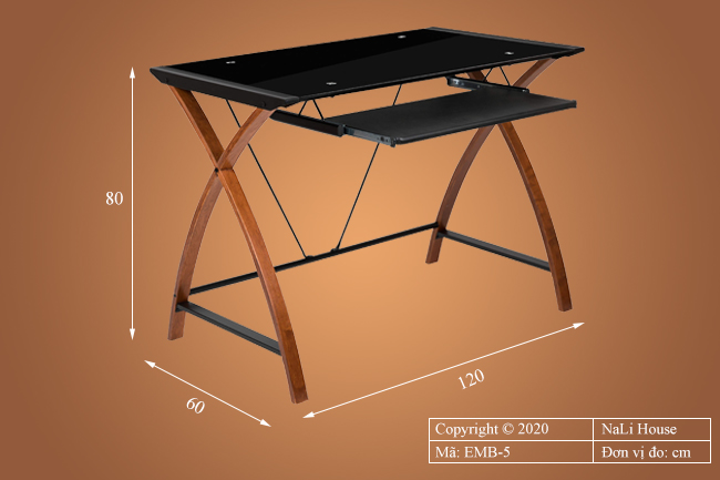 Kích thước nhỏ gọn, tiện lợi của bàn làm việc văn phòng EMB-5