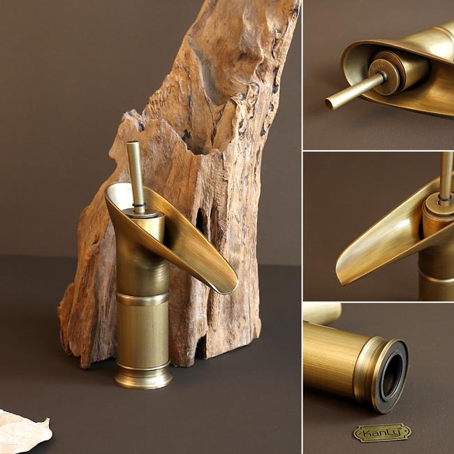 Lấy ý tưởng dòng thác đổ ngoài thiên nhiên lồng ghép vào tạo kiểu dáng cho vòi lavabo nóng lạnh GCV17