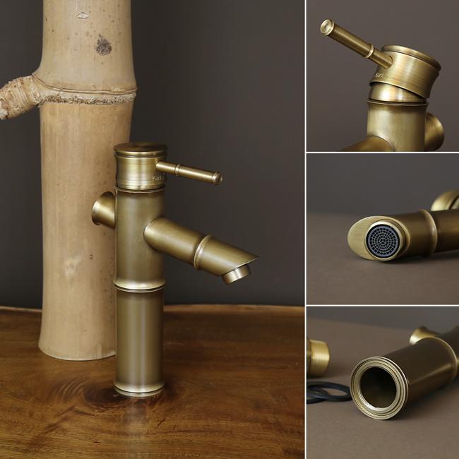 Thiết kế độc đáo, tạo phong cách khác biệt của vòi nước giả cổ hình cây tre
