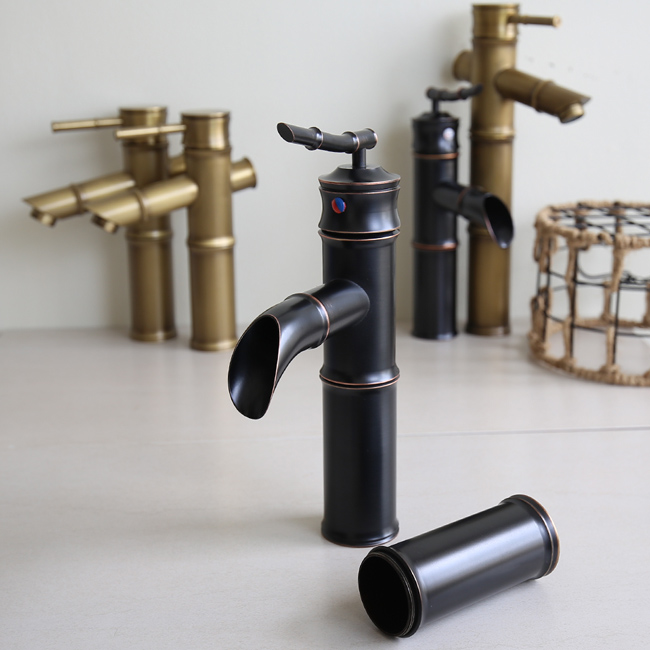 Thông số kích thước lắp đặt vòi nước hình ống tre GCV02B