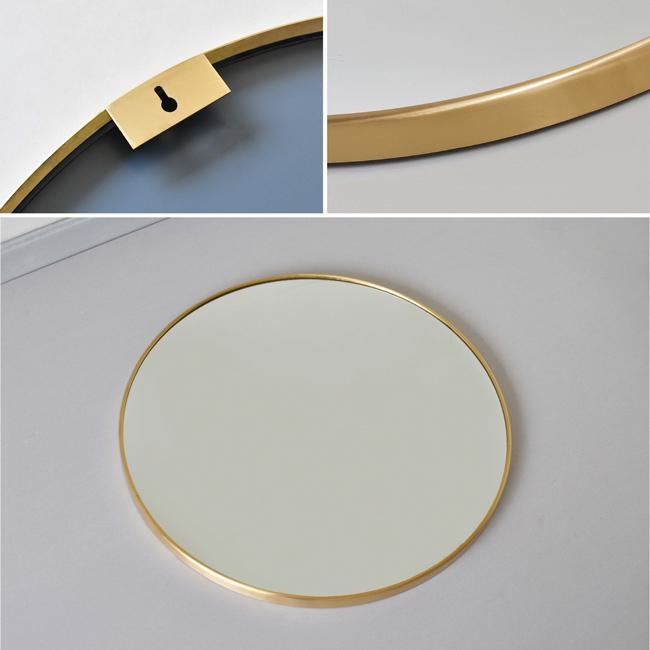 Gương soi nhà tắm có kiểu dáng hình tròn không góc cạnh, mang ý nghĩa của sự toàn vẹn, tính vĩnh cửu