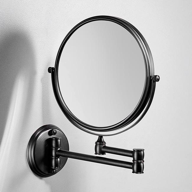 Gương tròn trang điểm treo tường lật 2 chiều, xoay 360 độ đa năng