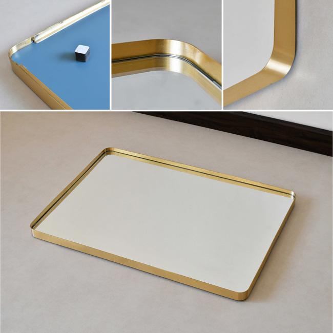 Gương chữ nhật treo tường phong cách minimalism, tối giản, gọn gàng