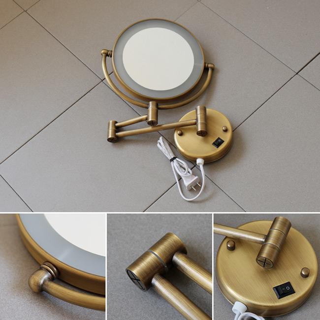 Gương trang điểm treo tường có đèn GCK18L có thiết kế phong cách neoclassical