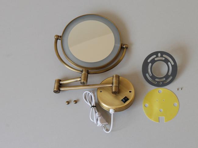 Gương trang điểm treo tường có đèn GCK18L phù hợp với không gian nội thất theo xu hướng rustic, vintage, retro
