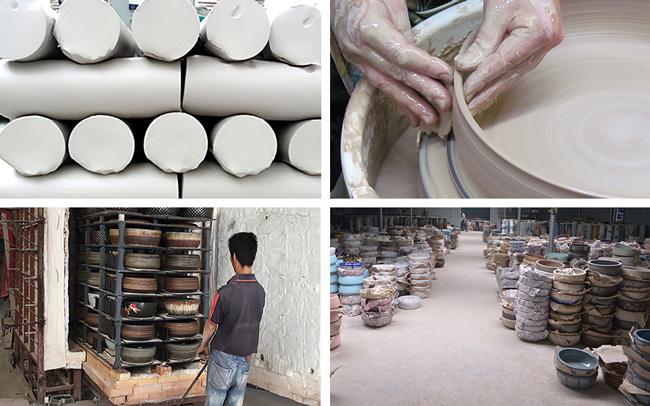 Vật liệu và quy trình chế tác chậu rửa gốm sứ