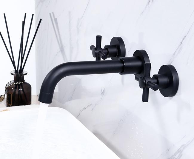 Vòi lavabo nóng lạnh âm tường mang nét đẹp tinh tế và độc đáo