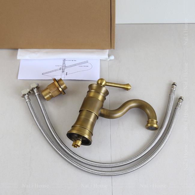 Bộ phụ kiện theo kèm khi mở hộp vòi rửa tay nóng lạnh GCV16