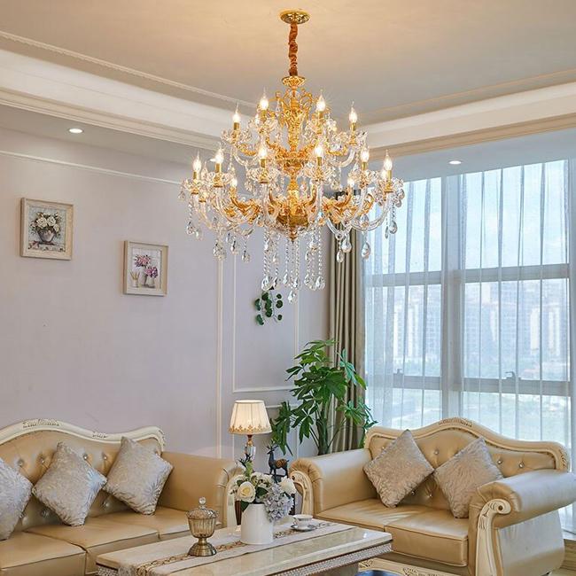 Lắp đặt đèn chùm phòng khách phù hợp với phong thủy