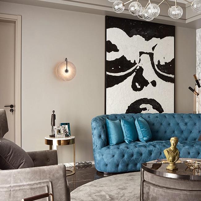 Đèn treo tường trang trí phòng khách phong cách Bắc Âu