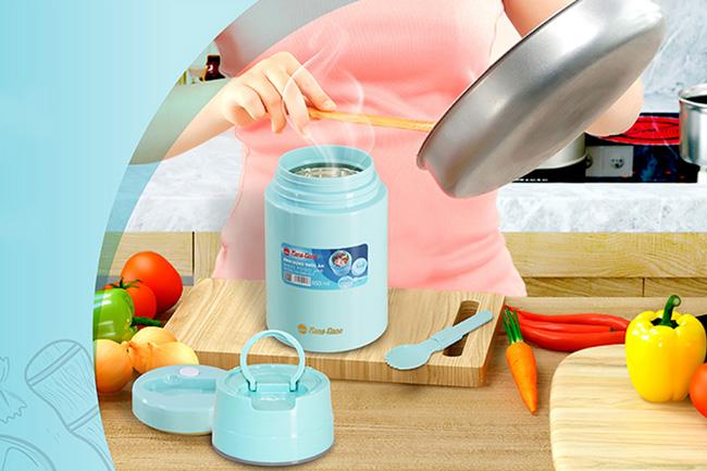 Phích nước giữ nhiệt giúp giữ vị ngon của đồ ăn, thức uống được lâu hơn