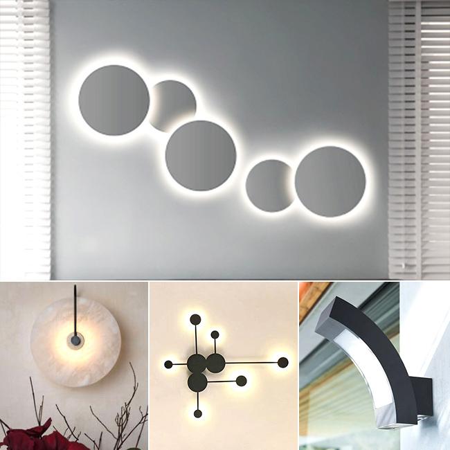 Chất liệu đèn tường trang trí hiện đại